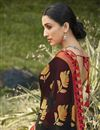 photo of Black Color Festive Wear Brasso Fabric Fancy Printed Saree