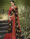 image of Black Color Festive Wear Brasso Fabric Fancy Printed Saree