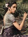 photo of Georgette Silk Fabric Regular Wear Fancy Printed Saree In Wine Color