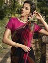 photo of Black Color Daily Wear Georgette Fabric Fancy Printed Saree