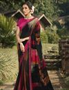 image of Black Color Daily Wear Georgette Fabric Fancy Printed Saree
