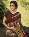 photo of Daily Wear Multi Color Fancy Printed Saree In Georgette Fabric