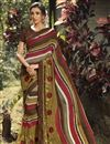 image of Daily Wear Multi Color Fancy Printed Saree In Georgette Fabric