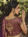 photo of Purple Color Fancy Daily Wear Georgette Fabric Printed Saree
