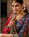 photo of Maroon Color Art Silk Fabric Stylish Weaving Work Function Wear Saree