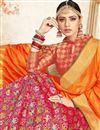 photo of Eid Special Dark Pink Color Art Silk Wedding Wear 3 Piece Lehenga Choli With Fancy Dupatta