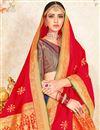 photo of Eid Special Weaving Work On Purple Color Designer Lehenga In Art Silk With Fancy Dupatta