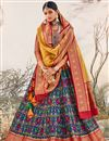 photo of Navy Blue Color Silk Fabric Wedding Wear Designer Lehenga Choli