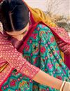 photo of Cyan Color Silk Fabric Sangeet Wear Designer Lehenga Choli