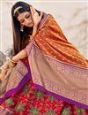photo of Red Color Silk Fabric Reception Wear Designer Lehenga Choli