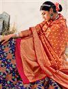 photo of Navy Blue Color Silk Fabric Sangeet Wear Designer Lehenga Choli