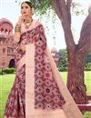 image of Pink Color Cotton Fabric Fancy Printed Daily Wear Saree