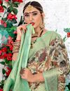 photo of Cream Color Casual Wear Printed Saree In Cotton Fabric