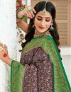 photo of Navy Blue Color Art Silk Fabric Sangeet Wear Designer Weaving Work Saree