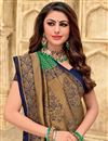 photo of Art Silk Fabric Green Color Puja Wear Designer Weaving Work Saree