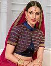 photo of Silk Fabric Designer Embroidery Work Saree In Rani Color