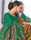 photo of Orange Color Silk Fabric Occasion Wear Embroidery Work Saree