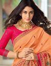 photo of Peach Color Art Silk Fabric Occasion Wear Saree