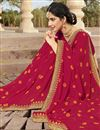 photo of Dark Pink Fancy Festive Wear Bandhej Printed Saree In Georgette Fabric