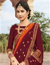 photo of Festive Wear Fancy Georgette Fabric Bandhej Printed Saree In Red