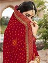 photo of Georgette Red Fancy Festive Wear Bandhani Printed Saree