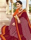 photo of Fancy Festive Wear Georgette Bandhej Printed Saree In Maroon