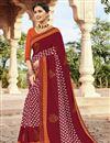 image of Fancy Festive Wear Georgette Bandhej Printed Saree In Maroon