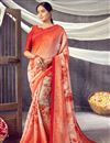 image of Daily Wear Classic Orange Color Printed Saree In Georgette Fabric