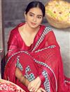 photo of Daily Wear Red Color Classic Georgette Fabric Printed Saree