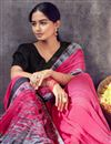 photo of Daily Wear Classic Georgette Fabric Printed Saree In Pink Color