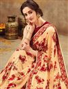 photo of Georgette Chikoo Color Casual Wear Printed Saree