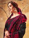 photo of Georgette Casual Wear Printed Black Saree