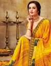 photo of Georgette Fabric Casual Wear Mustard Printed Saree