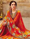 photo of Georgette Fabric Orange Casual Wear Printed Saree