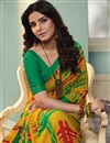 photo of Jasmin Bhasin Mustard Color Georgette Fabric Daily Wear Saree With Printed