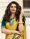 photo of Eid Special Prachi Desai Embroidery Work On Art Silk Party Wear Saree In Yellow Color With Beautiful Blouse