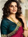 photo of Eid Special Prachi Desai Art Silk Dark Pink Color Occasion Wear Saree With Embroidery Work And Designer Blouse