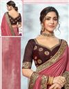photo of Art Silk Fabric Pink Color Designer Border Work Saree