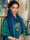 photo of Sky Blue Fancy Art Silk Festive Wear Printed Saree With Pashmina Silk Shawl