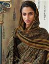 photo of Fancy Art Silk Festive Wear Printed Black Saree With Pashmina Silk Shawl