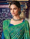 photo of Festive Wear Green Fancy Printed Saree In Art Silk With Pashmina Silk Shawl