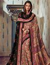 image of Fancy Art Silk Festive Wear Beige Printed Saree With Pashmina Silk Shawl