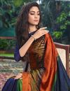 photo of Satin Fabric Multi Color Daily Wear Fancy Printed Saree