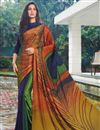 image of Satin Fabric Multi Color Daily Wear Fancy Printed Saree