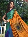 photo of Fancy Satin Fabric Printed Daily Wear Multi Color Saree