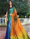 image of Fancy Satin Fabric Printed Daily Wear Multi Color Saree