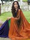photo of Multi Color Regular Wear Satin Fabric Printed Saree