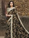 image of Black Color Office Wear Fancy Georgette Fabric Printed Saree