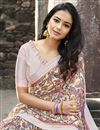 photo of Casual Wear Georgette Fabric Simple Printed Saree In Beige Color