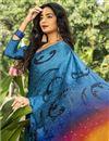 photo of Crepe Silk Fabric Regular Wear Multi Color Printed Saree